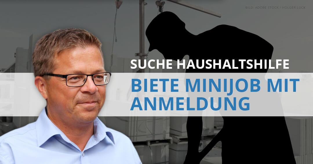 """Claus Preuss: """"Suche Haushaltshilfe – biete Minijob mit Anmeldung"""""""